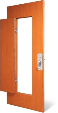Barrier-resistant doors feature a small compact door within the main one. The compact door provides staff easy access to a room if a barricade is used by a ...  sc 1 st  Construction Specialties & Acrovynu0026reg; Doors | Barrier Resistant Doors for Patient Rooms