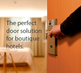 Acrovyn Doors are the perfect solution for boutique hotels