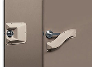 Acrovyn Door Knob and Latch Protection