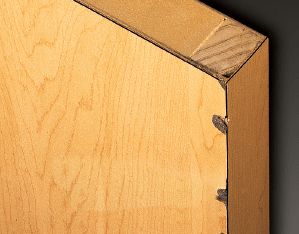 "Most Damage Occurs at the Edges - At a 4"" drop the HPL laminate chipped, exposing sharp edges"