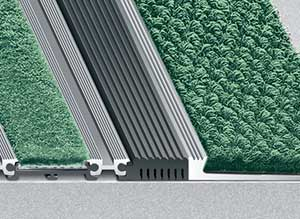 Entrance Mat Frame Mounting Options - Carpet Transition