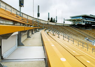 Expansion Joint Covers Design Development Phase Custom Stair Riser and Treads at Californal Memorial Stadium