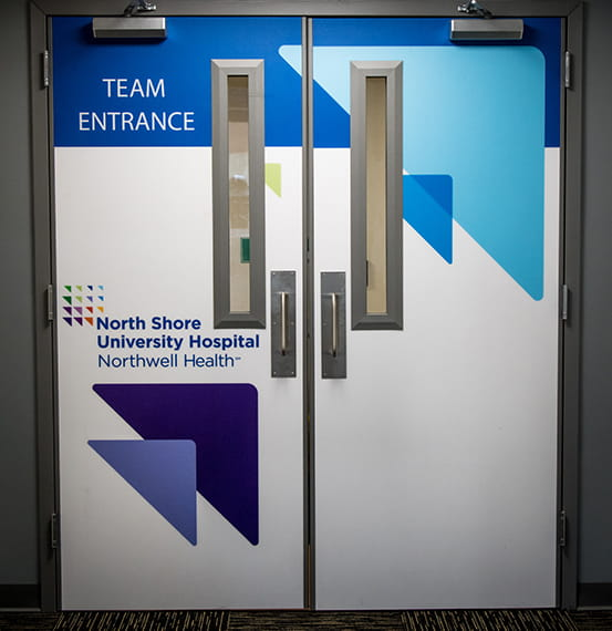 Northwell Health Acrovyn Doors by Design