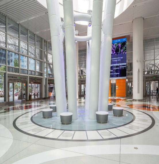 Salesforce Transit Center Expansion Joint Covers Exterior Wall Covers, Fire Barriers, Floor Covers and Garage and Stadium Covers