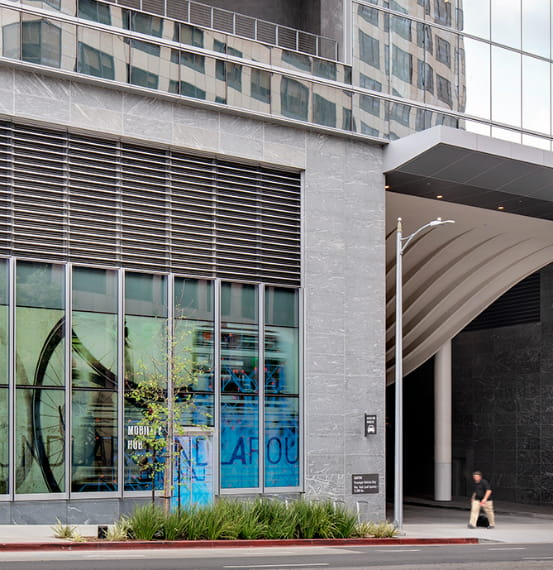 Customized Expansion Joint Covers and Architectural Louvers Wilshire Grand