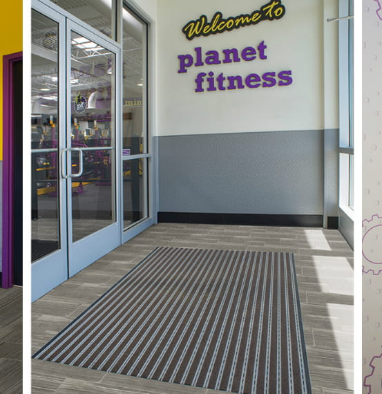 Pedimat® Entry Mat Systems + Acrovyn® Interior Product Systems Planet Fitness