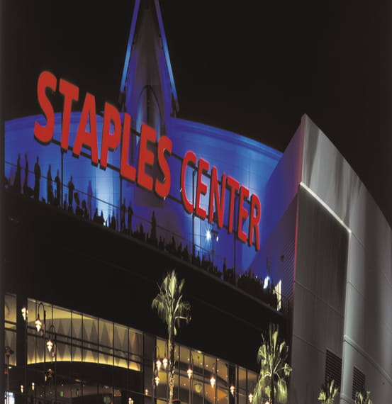 Staples Center Acoustical Louvers and Vert-A-Cade Vision Barriers