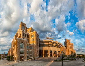 University of Notre Dame Football Stadium Storm-Resistant Louvers