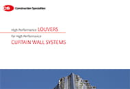 high performance louvers for curtain wall systems