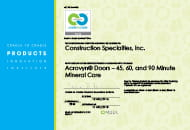 acrovyn doors 45 60 90 minute mineral core cradle to cradle certified certificate
