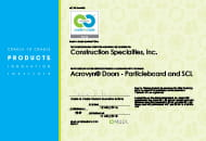 acrovyn doors particleboard and scl cradle to cradle certified certificate