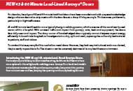 45 60 minute lead lined acrovyn door flyer