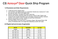 ads quick ship program