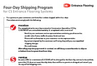 four day shipping program