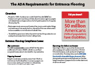 the ada requirements for entrance flooring