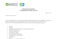 mbdc acrovyn red list letter