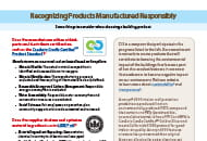recognizing products manufactured responsibly