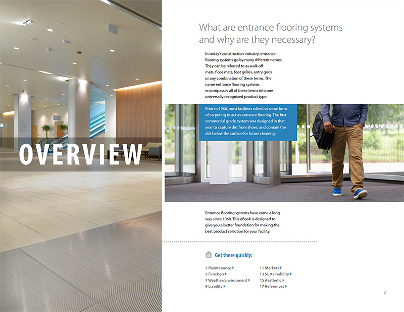 Sample page from the Entrance Flooring 101 eBook