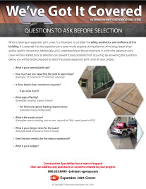 Questions to ask before selection flyer
