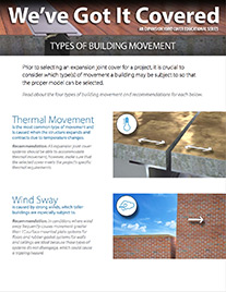 Types of building movement flyer