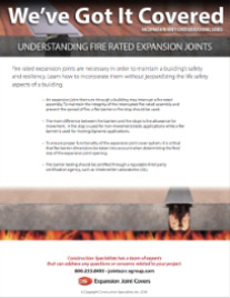 Understanding Fire Rated Expansion Joints flyer