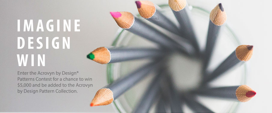 IMAGINE DESIGN WIN - Enter the Acrovyn by Design Patterns Contest for a chance to win $5,000 and a feature in the Acrovyn by Design Pattern Collection