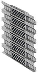 Integrated Bold Line Louver