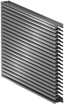 Integrated MetalWrap Series Louver