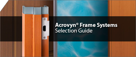 Door Selection Guide : Acrovyn frame systems cs