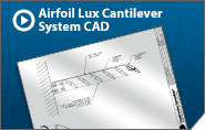 Airfoil Lux Cantilever System CAD Drawing