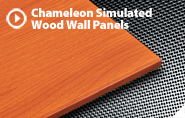 CHAMELEON SIMULATED WOOD WALL PANELS