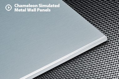 Metal Panels For Walls eldercare: chameleon simulated metal wall panels | cs