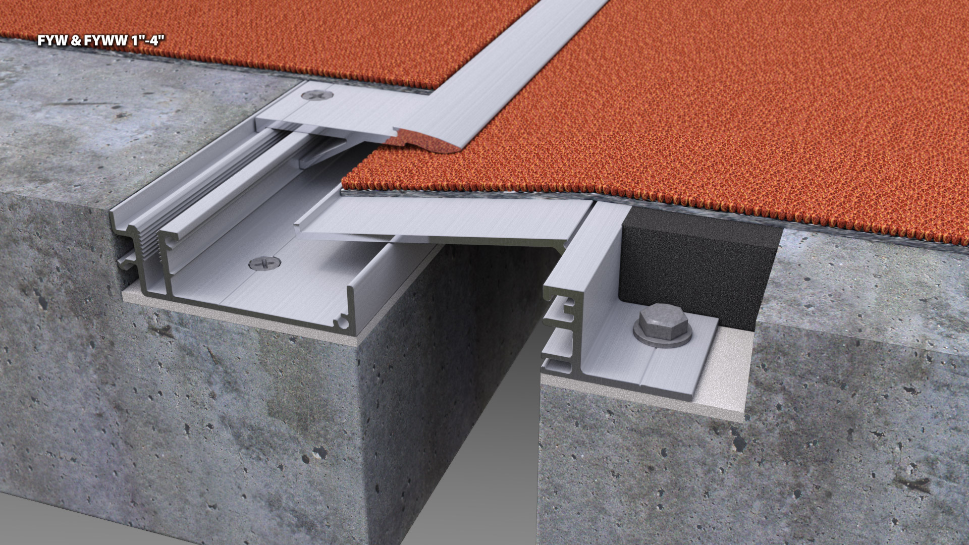 Expansion Joint Covers : Concealed metal floor expansion joint cover cs
