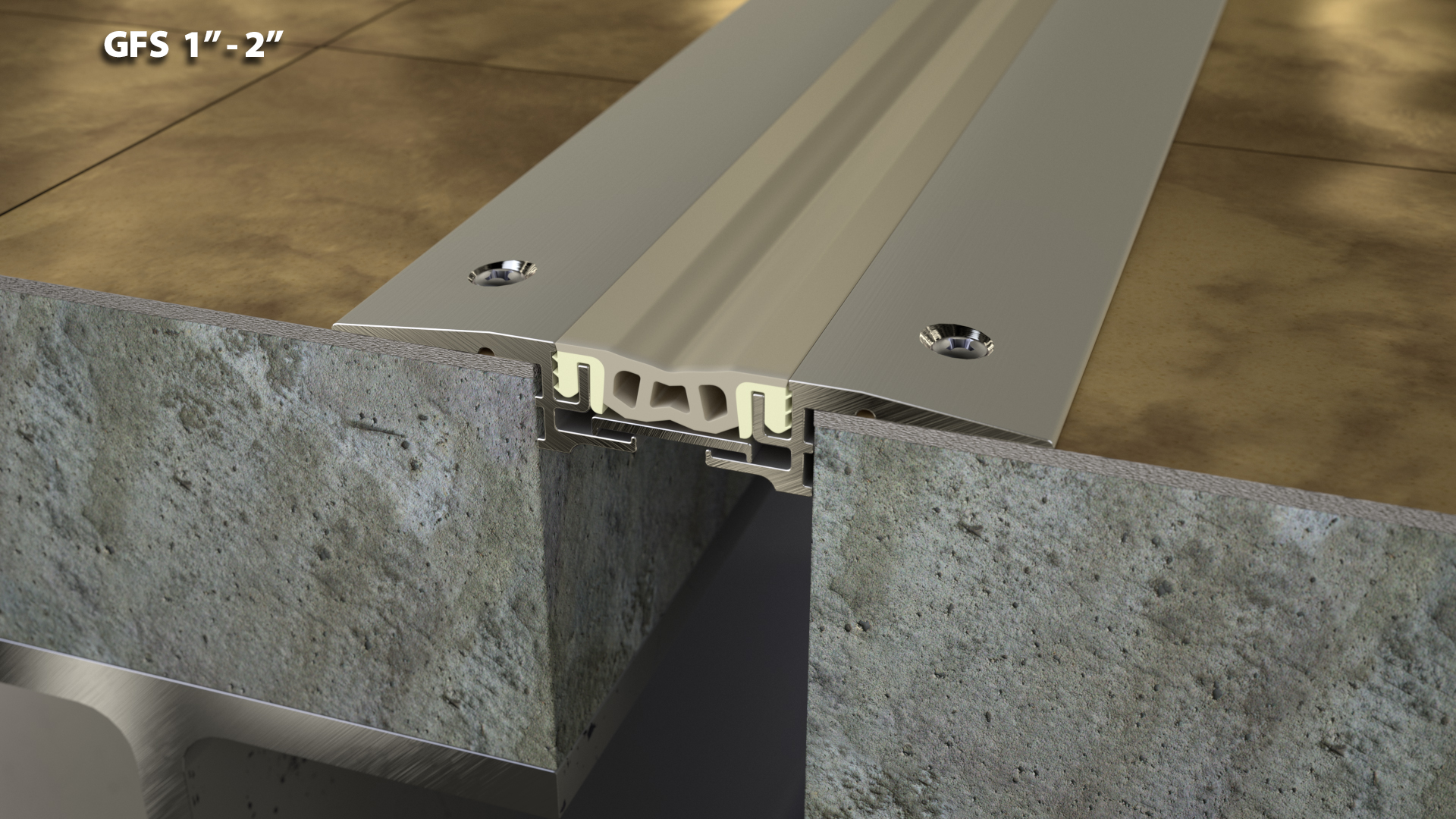 Expansion Joint Covers : No finish retrofit floor expansion joint cover quot cs
