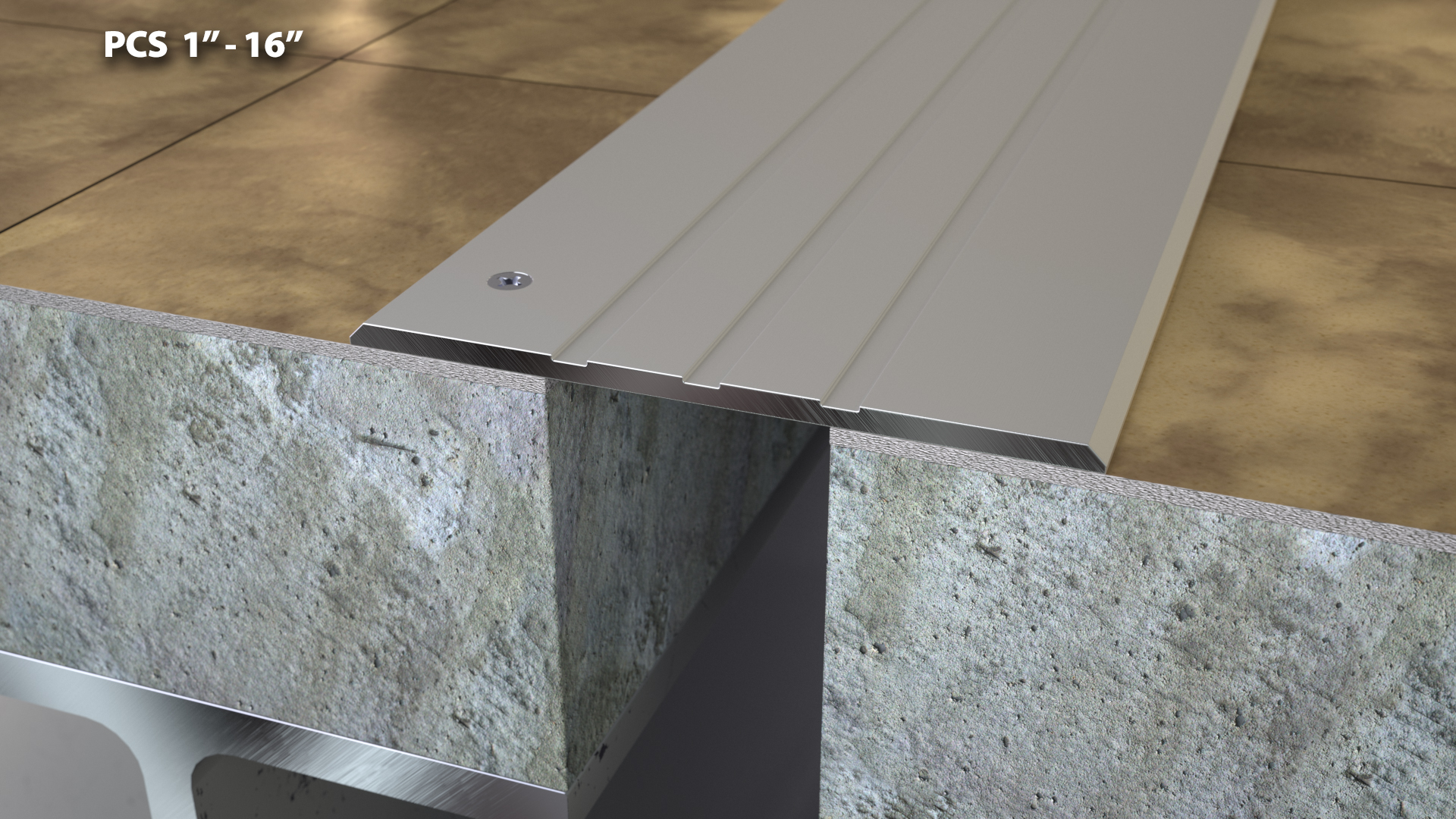 Expansion Joint Covers : Custom serrated floor expansion joint cover quot cs