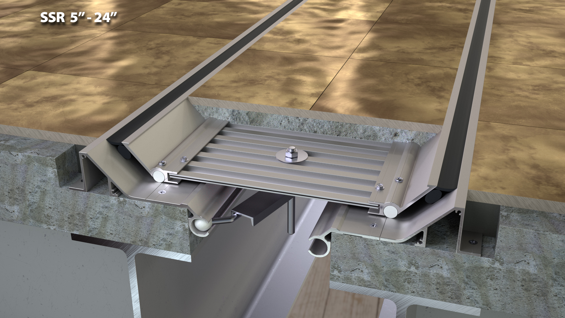 Expansion Joint Covers : Seismic deep finish floor expansion joint quot cs