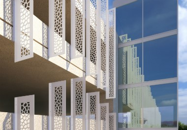 Construction Specialties | CS Sunshades with Corian®